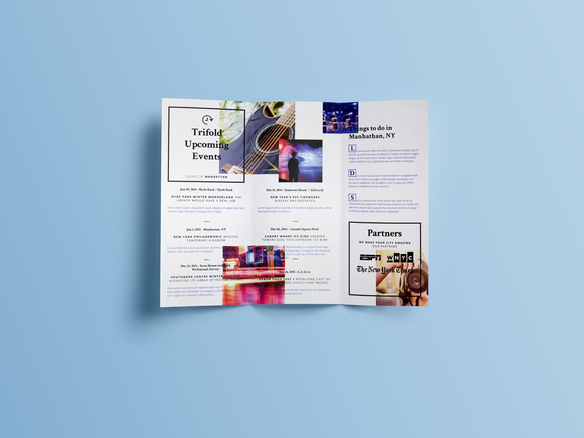 Simple Tri-Fold Brochure Designs